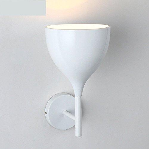 LIYAN Minimaliste Applique murale Bougeoir E26/27 Base Le verre Tulipe wall lamp lampe murale chambre café off road lights couloirs décorés. [Classe énergétique A+++] LIYAN Sconce
