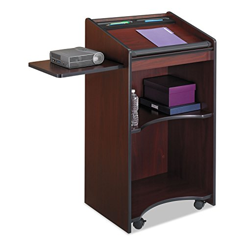 Safco 8918MH Executive Mobile Lectern 25-1/4w x 19-3/4d x 46h Mahogany