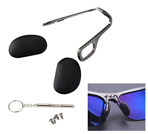 AM Landen Sunglasses Nose Pad Arm Replacement Kit for Most Sunglasses Screwdriver Nosepad and Screws Include