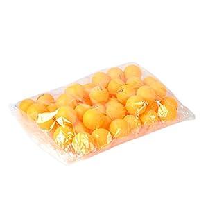 50pcs 3-Sterne-40mm orange Olympische Tischtennisplatte Tennis Ball