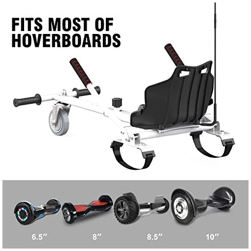 CITYSPORTS Hoverkart pour Hoverboard, Hoverkart Facile à Assembler, Convient à la Plupart des Modèles de 6,5 à 10 Pouces de Hoverboard