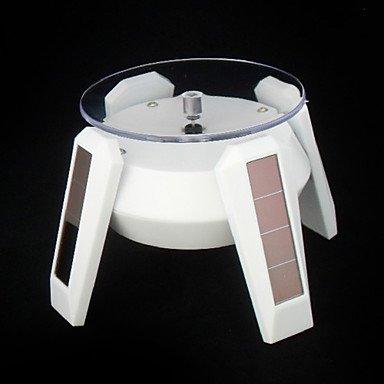 Funciona con energía Solar 360 Degree rotación de plato expositor ...