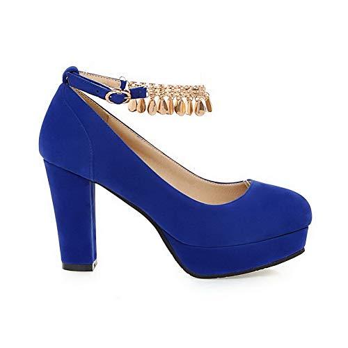AdeeSu 36 Bleu Plateforme Femme 5 SDC05778 Bleu 0rwp0x6q