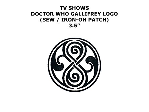 Seal of Gallifrey Bad Wolf Doctor Who TV Show DIY Embroidered Sew or Iron-on Applique Patch Outlander (Bad Wolf Dr Who Costume)