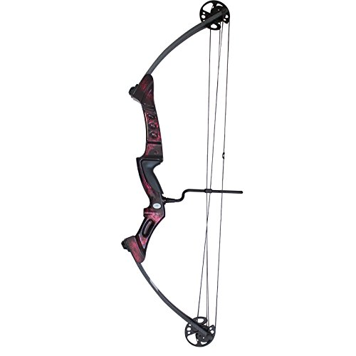 Southland Archery Supply SAS Primal 35-50 lbs Compound Bow with Red Riser and Carbon Limbs (Ruby)