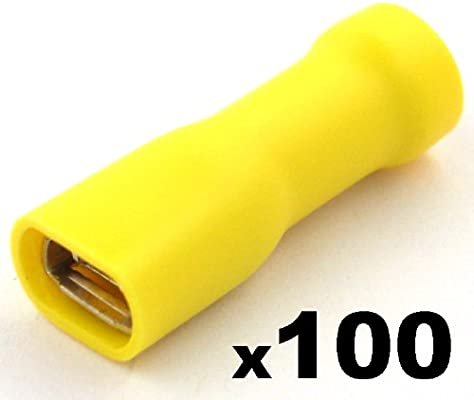 YELLOW  FEMALE FULLY INSULATED  CRIMP TERMINAL   QTY=100