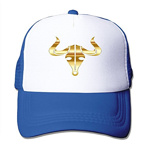 Cool Funny Gold Bull Buffalo Icon Casual Mesh Hat Trucker Baseball Cap RoyalBlue Icon Wii