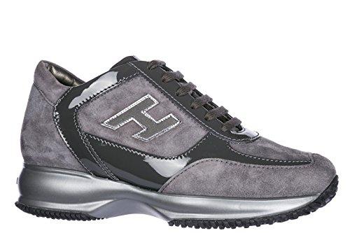 Hogan Scarpe Da Donna Scarpe Da Tennis Signore Suede Shoes Sneakers Interattivo H Gregge