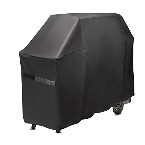 ProHome Direct Grill Cover for Weber Genesis II 6 Burner Gas Grill, Compare to Weber 7132 Grill Cover, Black (Grill Six Burner Gas)