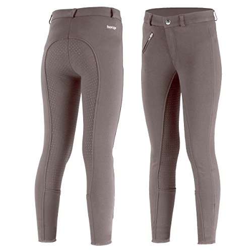 Horze Children's Junior Steel Grey Active Full Seat English Riding Breeches (US Jr. XXL/EU 170) Sale ()