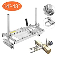 "ABDQPC Chainsaw Mill 18/24/36 Inch Portable Planking Milling Bar Size 14 to 36 Inch Log Planking Lumber Cutting Portable Aluminium & Steel for Builders/Woodworkers (14"" to 48"")"