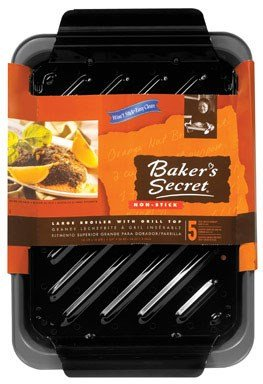 "Price comparison product image Baker'S Secret Broiler Pan Dw Safe 13.25"" X 9.25"" X 2"" Non-Stick"