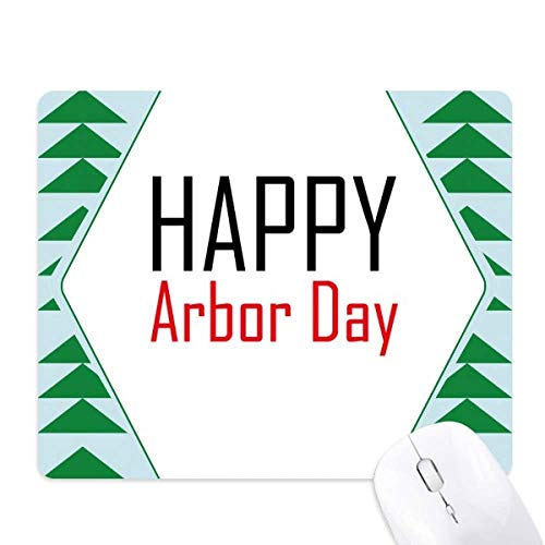(Celebrate Arbor Day Blessing Festival Mouse Pad Green Pine Tree Rubber Mat)
