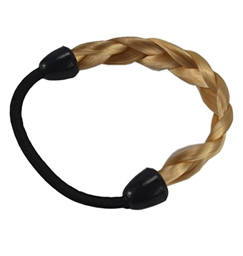 2 Pcs Wig Hair Rope Elastic Ponytail Holder Fashion Hair Accessory for (Golden Bandeau)