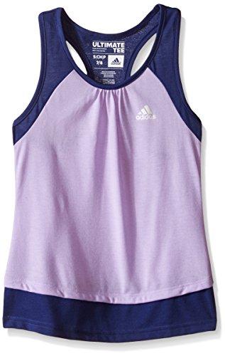 adidas Big Girls' Ultimate Tank, Purple Glow/Raw Purple, Large