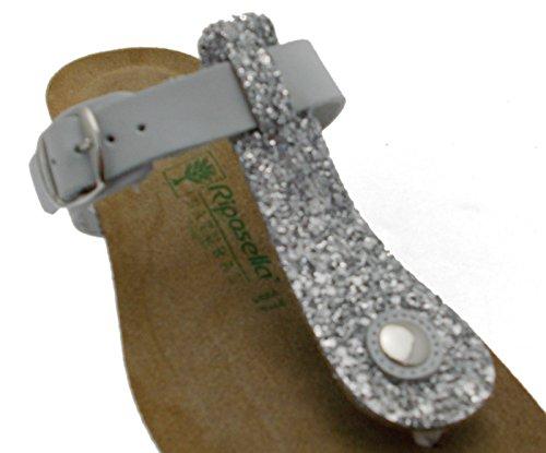 De Tongs Perles Glace Femme Art Coin Blanche Confortable 19615 Pantoufle 0Er08Sq