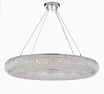 Crystal Ring Chandelier Modern Contemporary Lighting Floating Orb Chandelier 41 Wide – Good for Dining Room, Foyer, Entryway, Family Room and More
