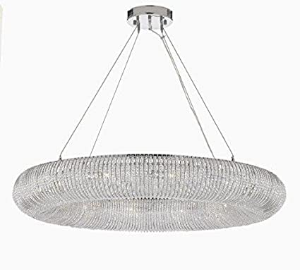 Crystal Ring Chandelier Modern/Contemporary Lighting Floating Orb Chandelier  41u201d Wide   Good For