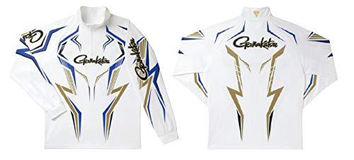 がまかつ(Gamakatsu) 2WAY プリントジップシャツ長袖 GN3540 ホワイト/ブルー B07NGR9R8C