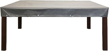 PREMIUM Abdeckplane Gartentisch Abdeckung Schutzhülle 100x90x15 Schwarz