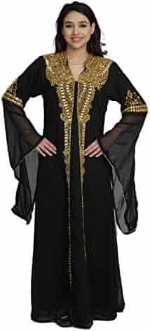 c00d38f4 Urban Lipi Dubai Arabian Fancy Black Abaya Women Kaftan Muslim Fashion  Party Wear Heavy Embroider