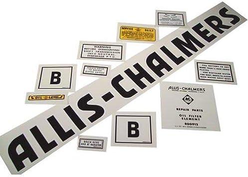 Allis Chalmers Rectangular Vinyl Decal