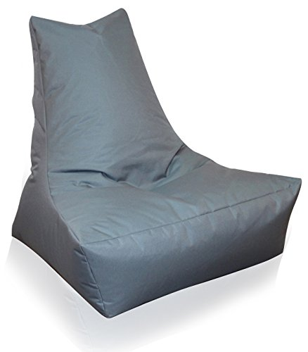 Mesana XXL Lounge-Sessel, ca. 100x90x80 cm, Sitzsack für Outdoor & Indoor, wasserabweisend, viele verschiedene Farben, grau