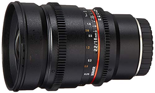 (Bower SLY16VDFXB Wide Angle High-Speed 16mm T/2.2 Cine Lens for Fuji X Video Cameras)