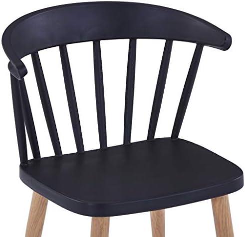 vidaXL Chaises de salle ¨¤ manger 2 pcs Noir Plastique et acier