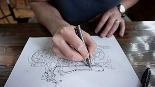 BIG IDEA DESIGN Ti Pocket Pro : The Auto Adjusting EDC Pen (Stonewashed) by BIG IDEA DESIGN (Image #1)