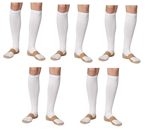 c957e0c2a6 MediSonic Stress Relief Copper Infused Threaded Compression Circulation  Socks 5 Pack Winter Deal