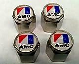 American Motors Corporation AMC Valve Stem Caps (Chrome - AMC)