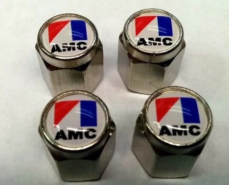 American Motors Corporation AMC Valve Stem Caps (Chrome - (Amc American Motors Javelin)