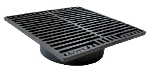 NDS 970G 6-Inch by 6-Inch Square Grate with 4-Inch Adapter