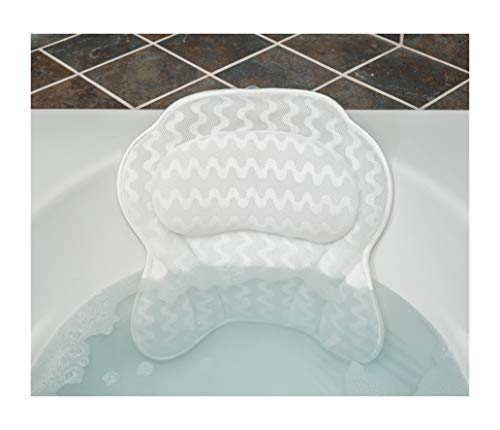 Clawfoot Bath Personal - Luxurious Bath Pillow for Women & Men :: Ergonomic Bathtub Cushion for Neck, Head & Shoulders :: with QuiltedAir Mesh for Breathable Comfort :: Includ
