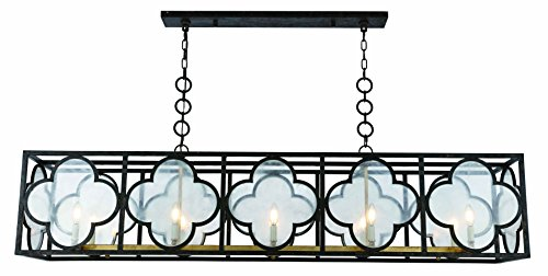 (1526 Trinity Collection Chandelier L:67 W:14 H:16.5 Lt:10 Aged Copper&Golden Iron Finish)