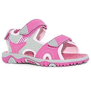Khombu Kids Girls River Sandals, Pink, 12
