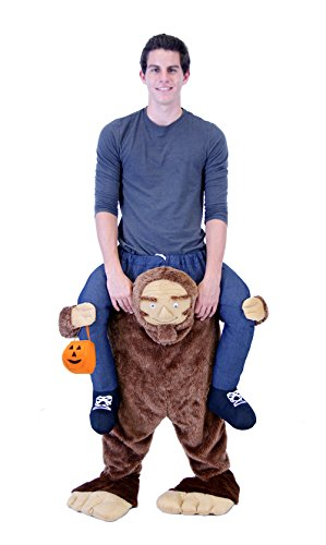 Costume Agent Men's Piggyback Sasquatch Ride-On Costume, Sasquatch, Teen ()