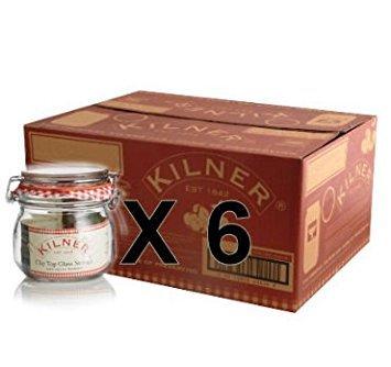 Set of 6 Kilner 0.125L Clip Top Preserve Preserving Jam Pickle Glass Storage Jar