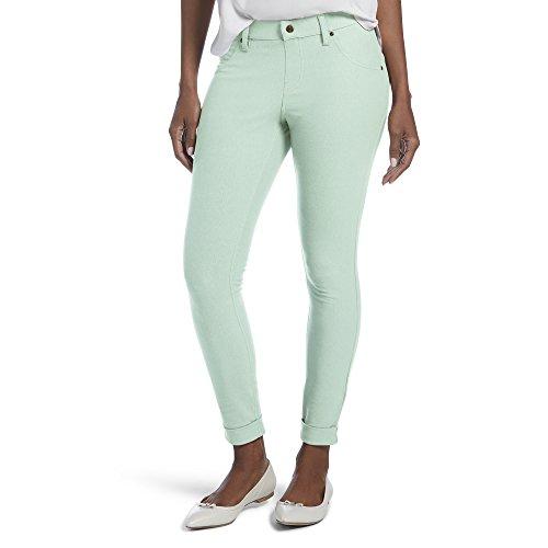 - HUE Women's Essential Denim Skimmer Leggings, Cuffed Hem - Sea Frost Blue, XS
