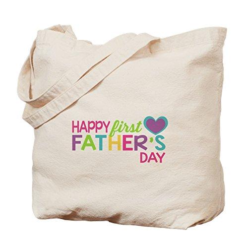 CafePress–feliz primer día del padre Niñas–Gamuza de bolsa de lona bolsa, bolsa de la compra Small caqui