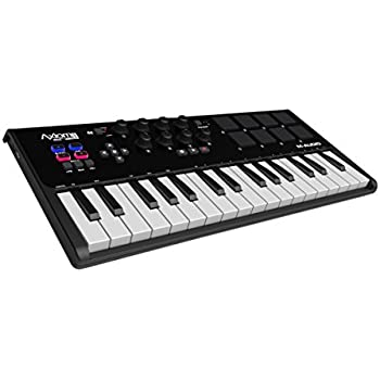 M-Audio Axiom AIR Mini 32 | Premium 32-Key USB MIDI Keyboard & Drum Pad Controller (8 Pads / 8 Knobs), VIP Software Download Included