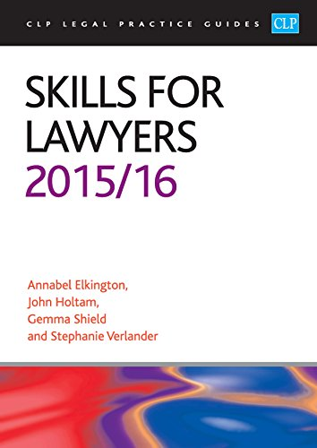 Skills for Lawyers (CLP Legal Practice Guides) Pdf