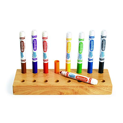 Colorations Marker Stand for Crayola Markers Wooden Design Classroom Organization