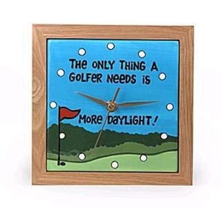Need More Daylight Ceramic Golf Clock by Our Name Is Mud