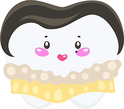 Cute Adorable Kawaii Tooth Halloween Costumes Cartoon Vinyl Sticker, Celebrity]()