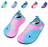 Giotto Kids Swim Water Shoes Quick Dry Non-Slip for Boys & Girls, Pink/Blue, 22-23