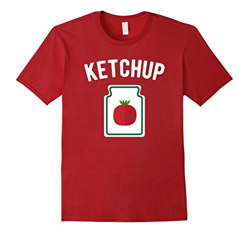 Mens Tomato Ketchup Bottle - Funny Halloween Costume T-Shirt Large Cranberry for $<!--$19.99-->