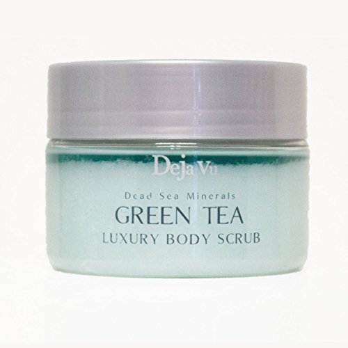 Deja Vu Dead Sea Minerals GREEN TEA Luxury Body Scrub - 250ml 8.5oz. -