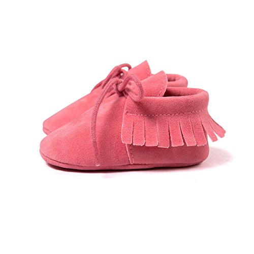 Suave Niño Rosa Vendaje Caliente Auxma Borlas Niña Único Bebé Cuna Zapatos Casual Moda Zapatillas YYxRw6